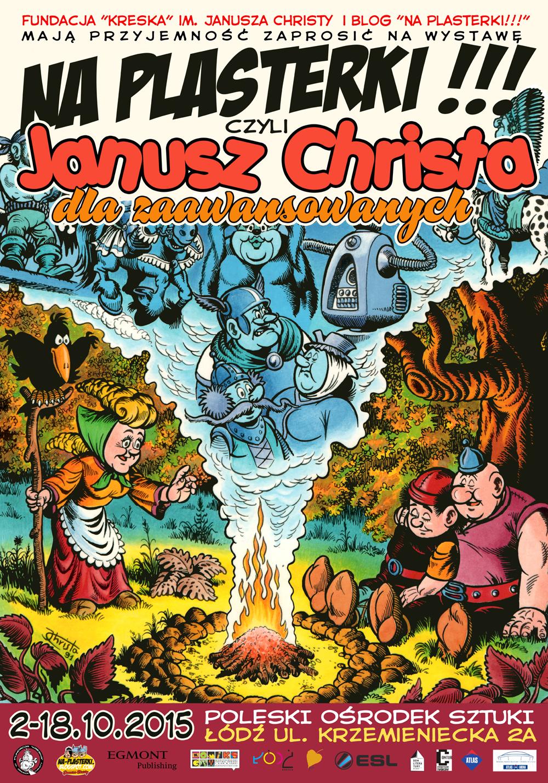"""Wystawa """"Na plasterki!!! – czyli Janusz Christa dla zaawansowanych"""" towarzyszyła 26. Międzynarodowemu Festiwalowi Komiksu i Gier w Łodzi."""