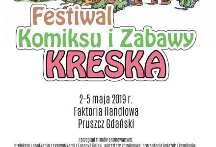 """Festiwal Komiksu i Zabawy """"Kreska"""" – rysownicy i fani  kultowych komiksów w Pruszczu Gdańskim"""