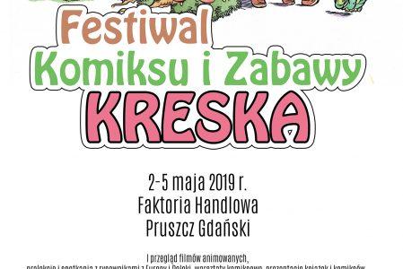 """Festiwal Komiksu i Zabawy """"Kreska"""" – rysownicy i fani  kultowych komiksów w Pruszczu Gdańskim (Program)"""
